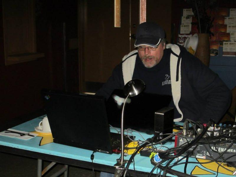 Daniel Thibeault, notre technicien, à PROPULSION scène 2013